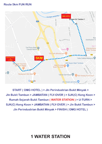 Route Map 5km
