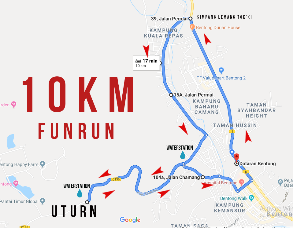 route map 10km