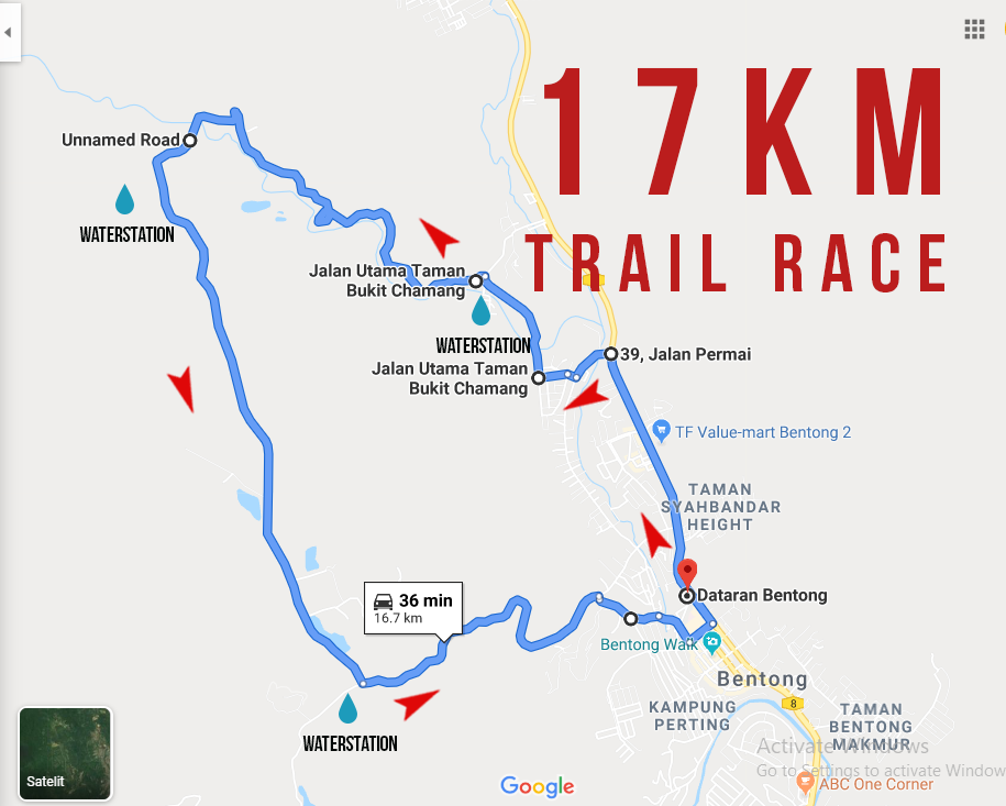 Route Map 17km