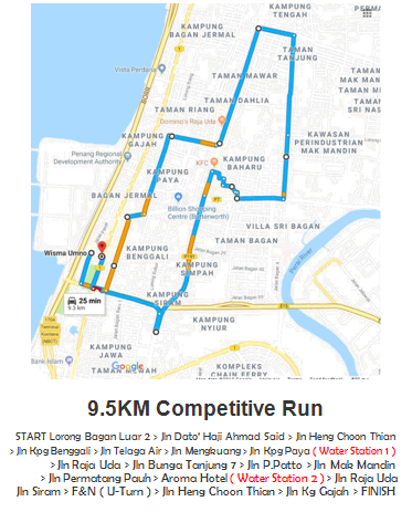 Route Map 9.5km