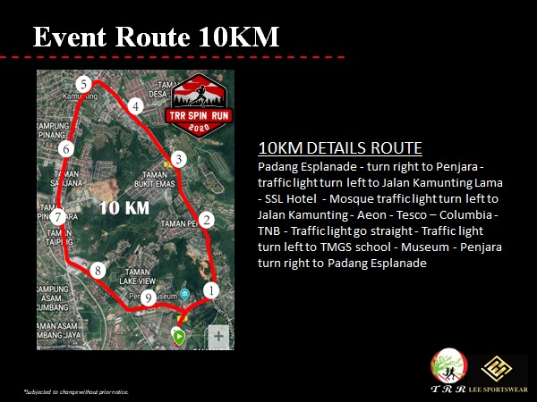 10km Route Map