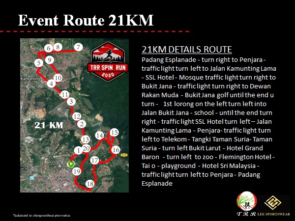 21km Route Map
