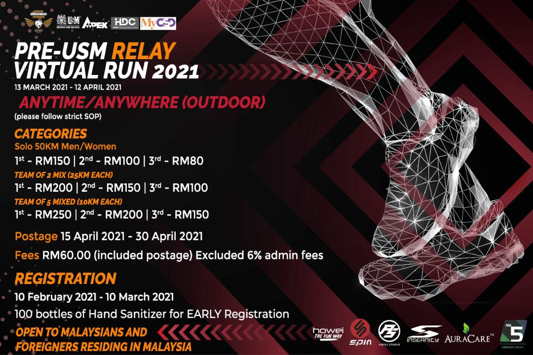 USM Relay Virtual Run Fees