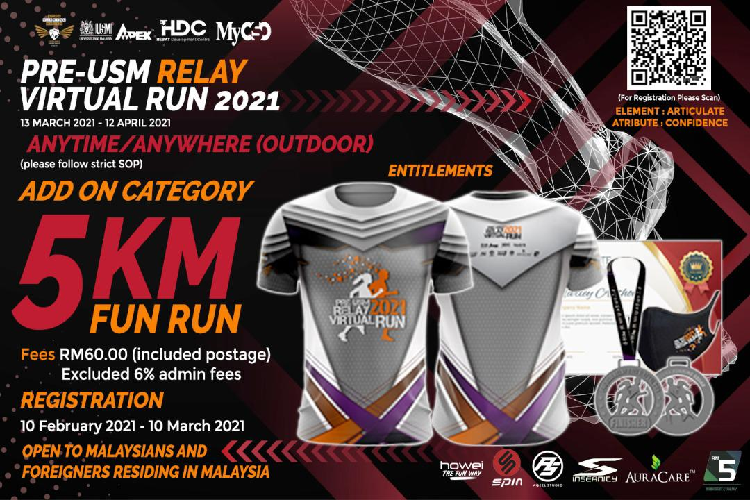 5KM Fun Run USM Relay Virtual Howei Event