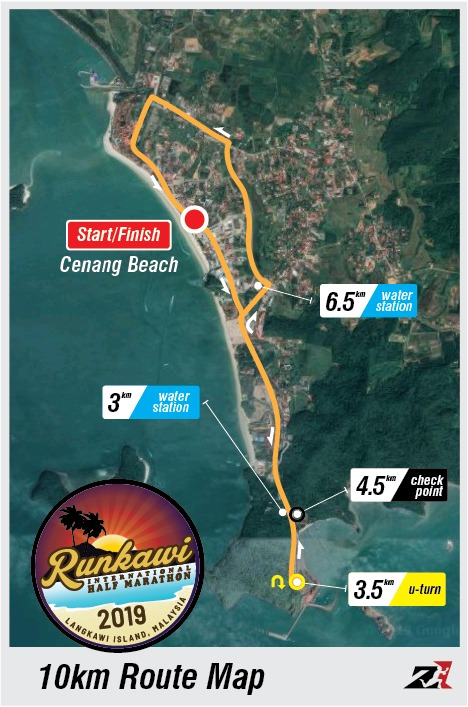 Runkawi 10km Route Map