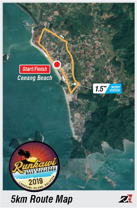Runkawi 5km Route Map